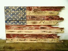American Flag - Rustic American Flag Hand Crafted from Reclaimed Wood - Patriotic - Fourth of July Decor Pallet Flag, Pallet Art, Wood Flag, Fourth Of July Decor, 4th Of July Decorations, July 4th, Patriotic Crafts, July Crafts, Americana Crafts