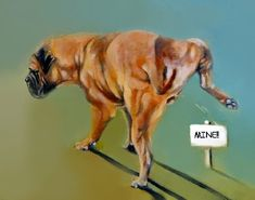 Adele Pfenninger was once known for her winning Bullmastiffs. Now her paintings depicting them are sought after by art-minded fanciers. Modern Molosser  |  www.modernmolosser.com