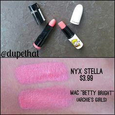 MAC Limited Edition Betty Bright Lipstick dupe from NYX!