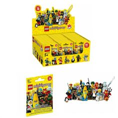 Lego Minifigures Characters Series 16 Collection Mystery Blind Bag #71013 Full Case of x60 Sealed Packs Building Toy