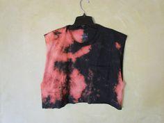 Cool, Grunge, Punk, Soft Grunge, Teen, Black, Bleached Tie Dye T-Shirt// Cropped Summer Tank// Grunge Hipster Tumblr Shirt  $15.00  https://www.etsy.com/listing/157484059/cool-grunge-punk-soft-grunge-teen-black?ref=shop_home_active
