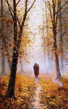 Autumn in painting.. | by Slobodan Trpevski