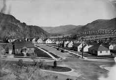 Engineer's Town, Grand Coulee Dam Site, 1937 Grand Coulee Dam, Mason City, Engineering, Street View, History, Historia, Technology