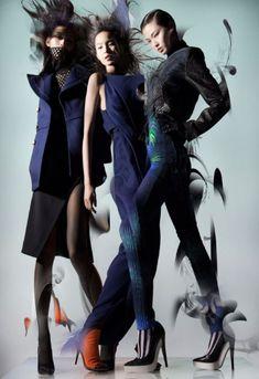 Ming Xi Xiao Wen, Wan Xiao Lane Crawford Fall 2012 campaign photographer Nick Knight