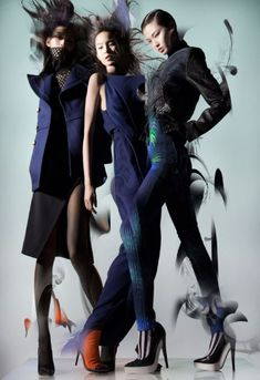 Ming Xi Xiao Wen, Wan Xiao Lane Crawford Fall 2012 campaign photographer Nick Knight