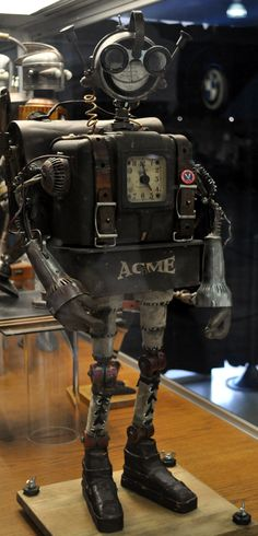 Dan Jone's steampunk Tinkerbots display at the San Diego Auto Museum's Steampunk exhibit