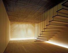 Stairs in Fujiya Ginzan by Kengo Kuma