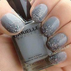 gel nail designs for winter glitter 2018 Nagellack 2018 Beautiful Nails Art Design Ideas: You can try it NOW Stylish Nails, Trendy Nails, Cute Nails, My Nails, Prom Nails, Ombre Nail Designs, Short Nail Designs, Nail Art Designs, Nails Design