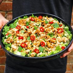 Chicken Satay, Diced Chicken, Marinated Chicken, Salad Bowls, Pasta Salad, Mob Kitchen, Tonkatsu, Cooking Time, Salad Recipes