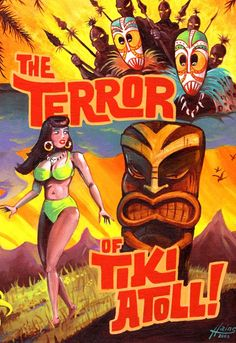 The Terror of Tiki Atoll 13 x 19 poster print by LoneCatStudios, $15.00