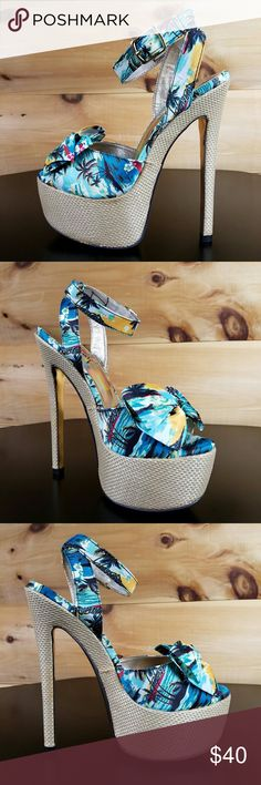 Luichiny Love Potion Tropical Blue Size 8 New in box more sizes at twf.shoes Luichiny Shoes Heels