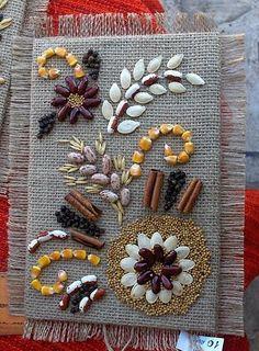 Diy Home Crafts, Handmade Crafts, Arts And Crafts, Paper Crafts, Autumn Crafts, Nature Crafts, Pumpkin Seed Crafts, Pista Shell Crafts, Fall Classroom Decorations