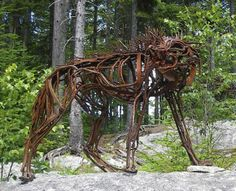 Fierce Wolf © Wendy Klemperer -- four foot tall and made of salvaged steel