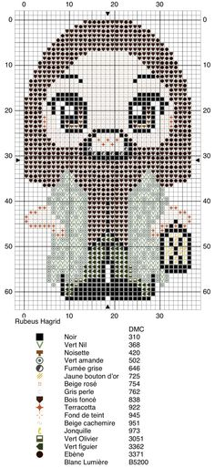 Rubeus Hagrid - Harry Potter pattern