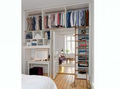 Idée déco - Chambre - Dressing au dessus d'une porte