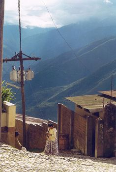 Coroico, Bolivia - I was here as a child. beautiful, high altitude, sometimes the electricity worked, and only a few people had it in their home. @NJOZ