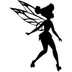 Disney Fairies Iron On Appliques Tinkerbell Silhouette  Arts  Crafts