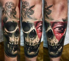 Skull Tattoo by Timur Lysenko | Tattoo No. 12608