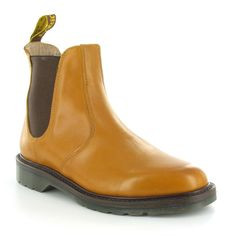 Dr Martens Sovereign Laura Womens Leather Chelsea Boots - Tan Brown