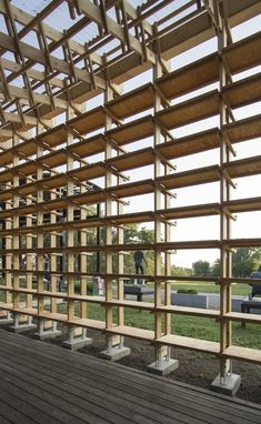 Image 20 of 20 from gallery of Hou de Sousa Completes Construction on Raise/Raze and Sticks. Photograph by Hou de Sousa Bamboo Structure, Timber Structure, Timber Architecture, Architecture Details, Pergola, Wood Detail, Socrates, Wood Construction, Sustainable Design