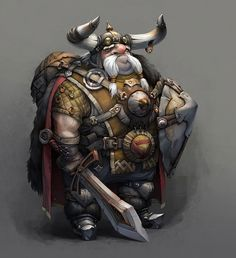Glasses Picture  (2d, fantasy, warrior, dwarf)