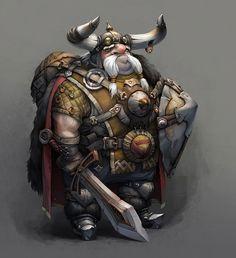 Glasses Picture  (2d, fantasy, warrior, dwarf)