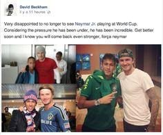 Le message de David Beckham à Neymar - http://www.actusports.fr/111282/message-david-beckham-neymar/