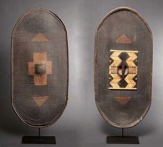 Africa | 'Gbilija' shield from the Zane people of Congo ca. 1894