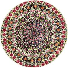 Unique Loom O' Keefe Vita Multi/Yellow Round Indoor Bohemian/Eclectic Area Rug (Common: 8 X Actual: Dia) Yellow Area Rugs, Yellow Rug, Color Yellow, Blue Yellow, Round Area Rugs, Rugs Online, Green And Orange, Animals For Kids, Colorful Rugs
