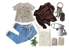 """""""our old house"""" by realplantmom ❤ liked on Polyvore featuring AllSaints, Manoush and FOSSIL"""