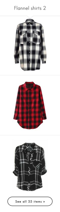 """Flannel shirts 2"" by musicmelody1 on Polyvore featuring tops, shirts, flannel, river island, sale, oversized tops, snap button flannel shirts, checked shirt, snap shirt and checkered top"