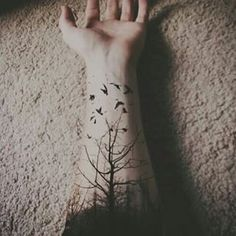 This stunning woodland. | 26 Stunning Tattoos For Nature Lovers