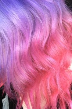 Purple and pink ombre dip dyed hair