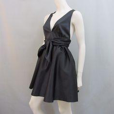 Rachel Zoe Dress 4 Black Cocktail Mini Plunging V Neck New Tags #RachelZoe #VNeck #Cocktail