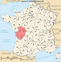 carte region Poitou-Charentes