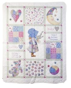 Little Red Riding Hood 34 by 43-Inch Bucilla Stamped Cross Stitch Crib Cover Kit