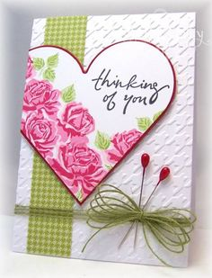 Houndstooth and Roses by bfinlay - Cards and Paper Crafts at Splitcoaststampers
