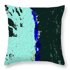 "Moonlight On The Rio Grande Throw Pillow 14"" x 14"""