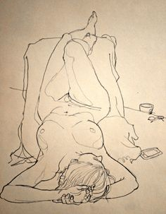 Thursday morning life drawing (by Newsillustrator - Rich Johnson)