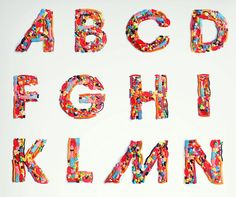 40 Fun Alphabets Made of Anything