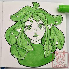 Sad Drawings, Pretty Drawings, Cool Art Drawings, Drawing Sketches, Copic Marker Drawings, Copic Markers, Black Anime Characters, Bullet Journal Art, Guache