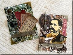 Richele Christensen for A Vintage Journey with some ATC cards; Sept 2014