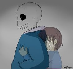 Undertale - Frisk and Sans - Post Genocide by Reeperc0 on DeviantArt