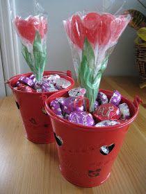 4 Crazy Kings: Valentine's Day Craft: Candy Flowerpot