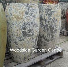 Extra Large Tall Atlantis Egg Pot Planter   Woodside Garden Centre   Pots to Inspire Stone Planters, Large Planters, Planter Pots, Woodside Garden Centre, Plane Crafts, Garden Crafts, Upcycled Furniture, Ceramic Vase, Garden Pots