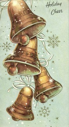 Ringing in the holiday season with oodles of cheer. #vintage #Christmas #cards…