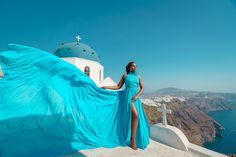 Artistic photoshoots & flying dress rental in Santorini, Greece. Magic pictures from the most romantic island of the world! Santorini Photographer, Greece Honeymoon, Dress Rental, Greece Holiday, Romantic Getaways, Holiday Photos, Most Romantic, Photo Archive, Female Portrait