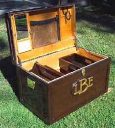 Love the interior of this tack trunk, but I prefer the custom vinyl siding :-)