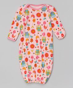Another great find on #zulily! Pink Owl Gown - Infant #zulilyfinds
