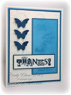 Thank You in Blue, SUOC61 by Cards4Ever - Cards and Paper Crafts at Splitcoaststampers